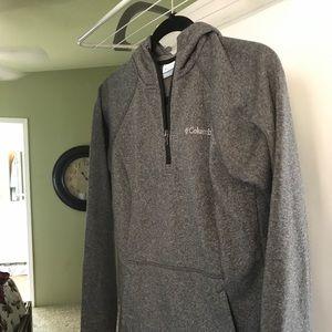 Columbia Fleece /4 zip and black with white